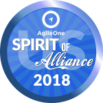 "As one of the Best global staffing companies Net2Source Staffing Agency Awarded as ""Spirit Of Alliance"" for Outstanding Performance AgileOne"